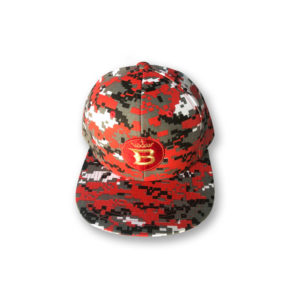 throw it snapback red digi camo