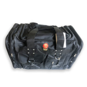 train hard duffle bag black